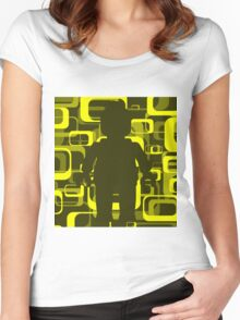 Retro Minifig Art  Women's Fitted Scoop T-Shirt