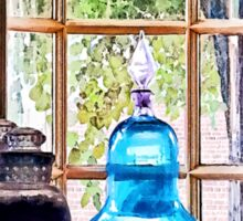 Blue Apothecary Bottle Sticker