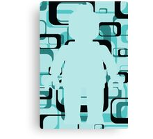 Retro Minifig Art Canvas Print
