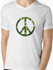 Green Peace Mens V-Neck T-Shirt