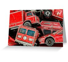 Toy Cars - Red Greeting Card