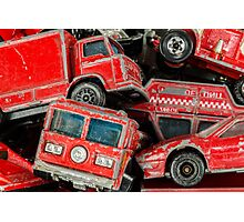 Toy Cars - Red Photographic Print