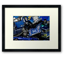 Toy Cars - Blue Framed Print
