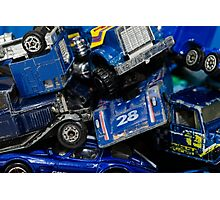Toy Cars - Blue Photographic Print