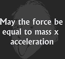May the force be equal to mass times acceleration by abandaa