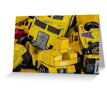 Toy Cars - Yellow  Greeting Card