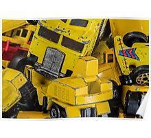 Toy Cars - Yellow  Poster