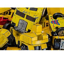 Toy Cars - Yellow  Photographic Print