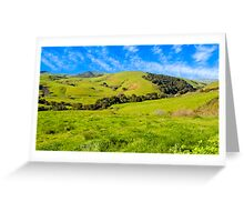 Green Meadow, Santa Ynez valley, CA Greeting Card