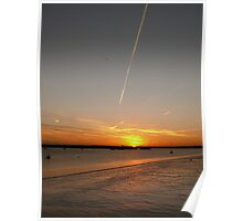 Contrail at daybreak Poster