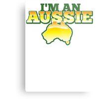 I'm an AUSSIE! with Australian map  Metal Print