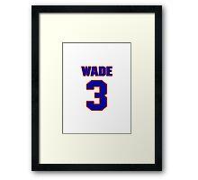 Basketball player Dwyane Wade jersey 3 Framed Print