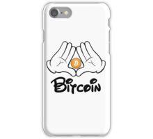 Bitcoin Mickey Hand T Shirt iPhone Case/Skin