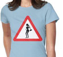 Caution Prostitute (Attenzione Prostitute) Womens Fitted T-Shirt