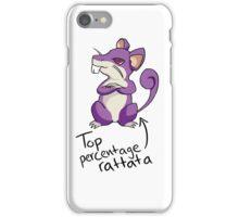 Top Percentage Rattata iPhone Case/Skin