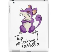 Top Percentage Rattata iPad Case/Skin