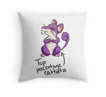 Top Percentage Rattata Throw Pillow