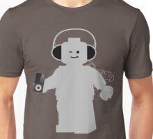 Minifig with Headphones & iPod Unisex T-Shirt