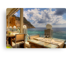 Dining in Paradise Canvas Print