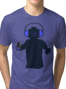Minifig with Headphones & iPod Tri-blend T-Shirt