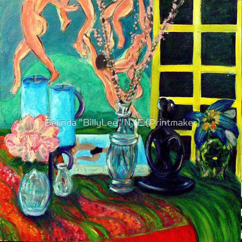 """Still LIfe After Matisse by Belinda """"BillyLee"""" NYE (Printmaker)"""
