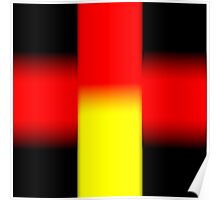 Black - Yellow - Red Poster