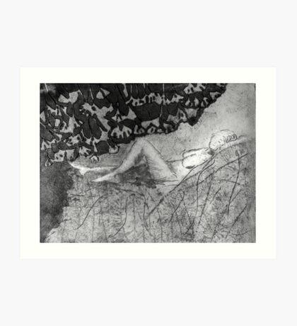 Annette in Black and White Art Print