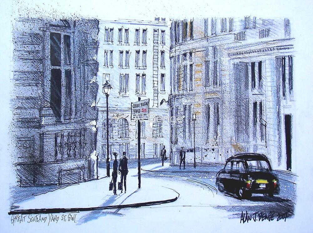 Great Scotland Yard Street, Whitehall, London by Al Benge