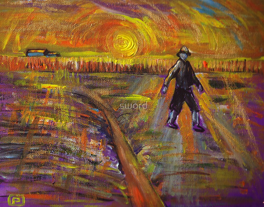 The seed sower (from my original acrylic and gold painting) by sword