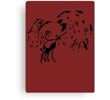 Tribal Phoenix - Black Canvas Print