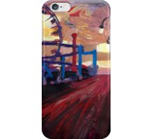 Santa Monica Pier at Dawn iPhone Case/Skin