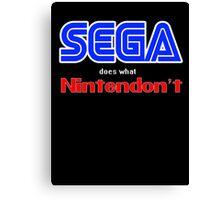 SEGA Does What Nintendon't Canvas Print