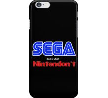 SEGA Does What Nintendon't iPhone Case/Skin