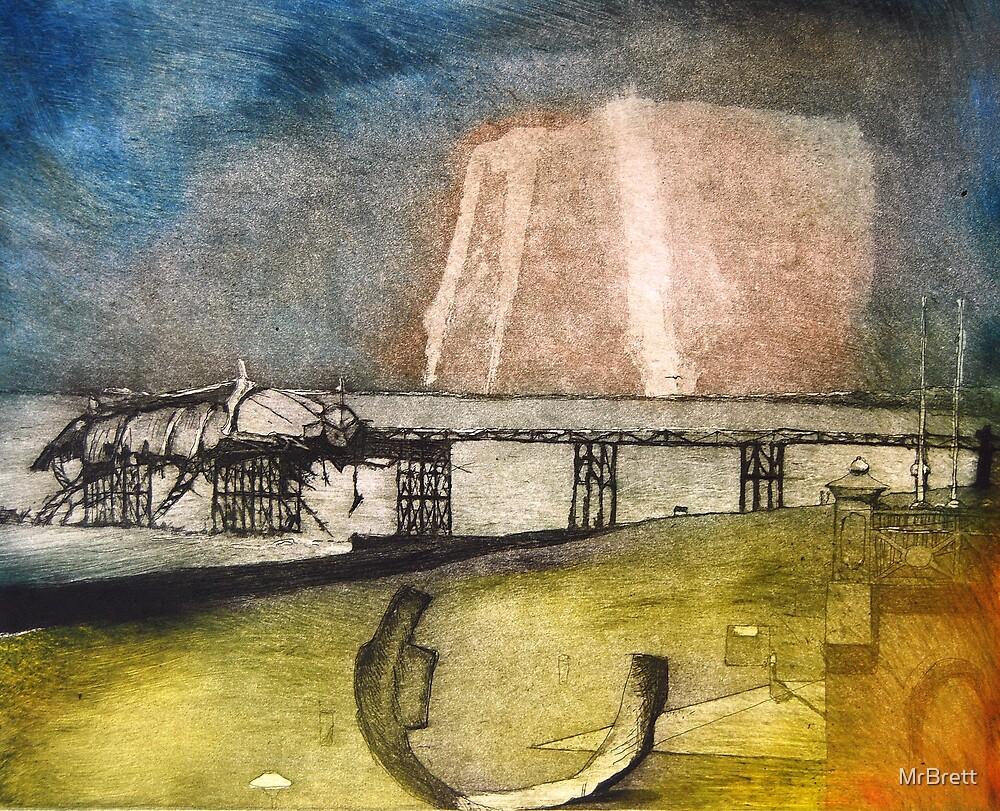 Brighton pier by Brett Sadhwani
