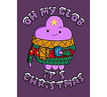 Lumpy Space Princess - Oh My Glob It's Christmas Photographic Print