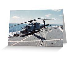 Seahawk Hanging On Greeting Card