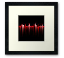 Red rhythm Framed Print