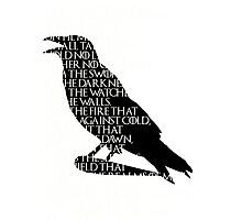 crows' oath Photographic Print
