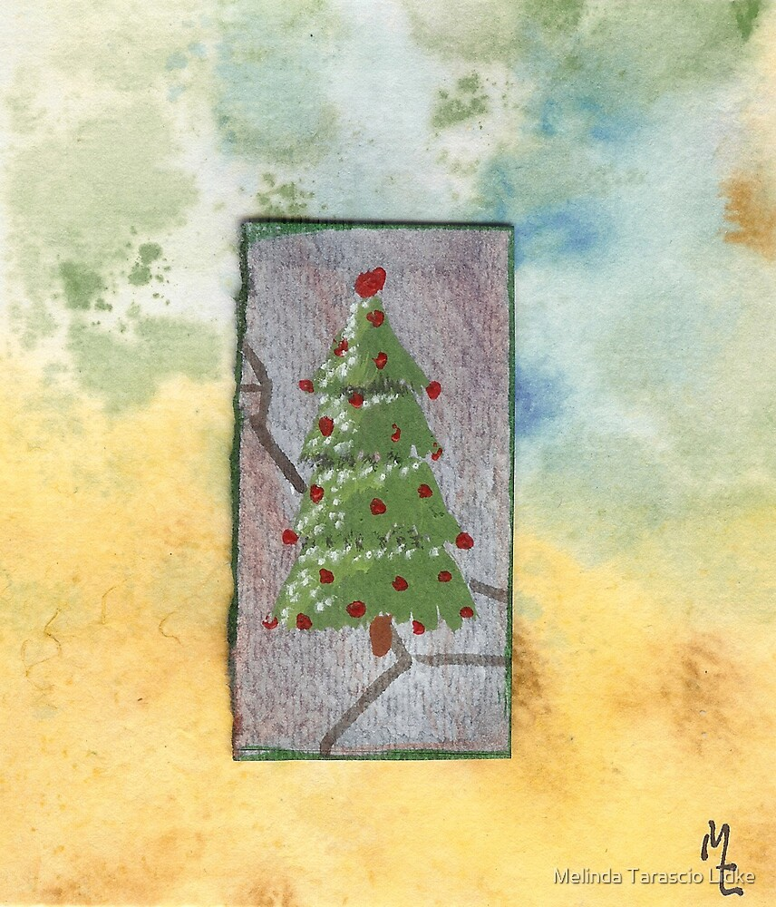Christmas Tree Watercolor 33c by Melinda Tarascio Lidke