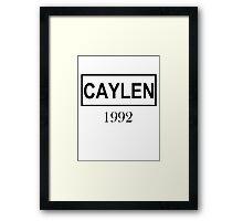 CAYLEN BLACK Framed Print