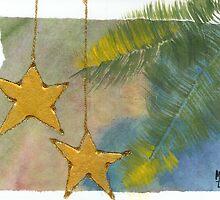 Stars Shining Christmas Card 24c by Melinda Tarascio Lidke