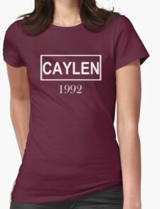 CAYLEN WHITE Womens Fitted T-Shirt