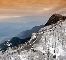 Summit of Emei Mountain. Sichuan, China by Charlie  Lin
