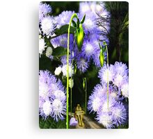 In the Flowers street Canvas Print
