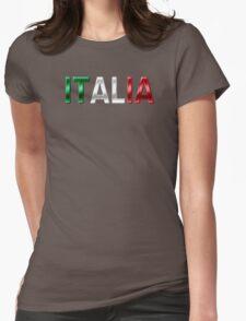 Italia - Italian Flag - Metallic Text Womens Fitted T-Shirt