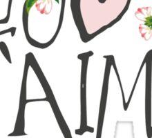 Je T'aime Flowers Sticker