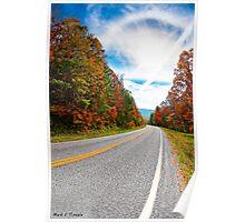Winding Mountain Roads - North Georgia Landscape Poster