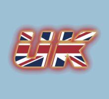 UK - Flag Logo - Glowing One Piece - Short Sleeve
