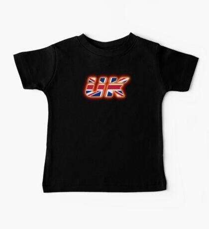 UK - Flag Logo - Glowing Baby Tee
