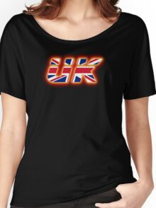 UK - Flag Logo - Glowing Women's Relaxed Fit T-Shirt